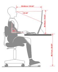 نشستن صحیحپشت کامپیوتر